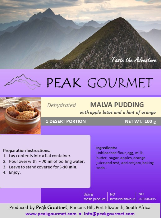 Peak Gourmet Malva Pudding